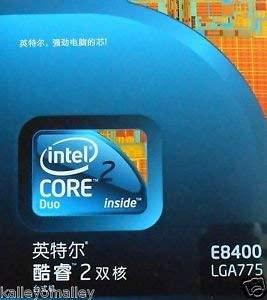 INTEL BX80570E8400 CPU CORE 2 DUO E8400 3.0GHZ/1333/6 (Renewed)