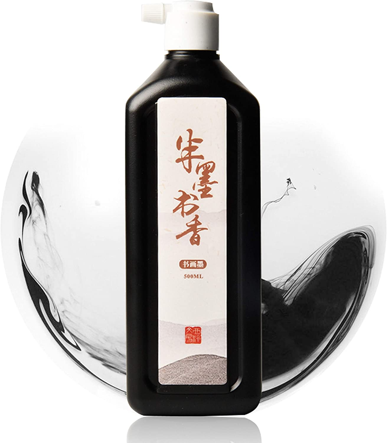 500ML(16.9oz) Black Liquid Chinese Ink/Sumi Ink for Chinese/Japanese Calligraphy and Painting on Paper