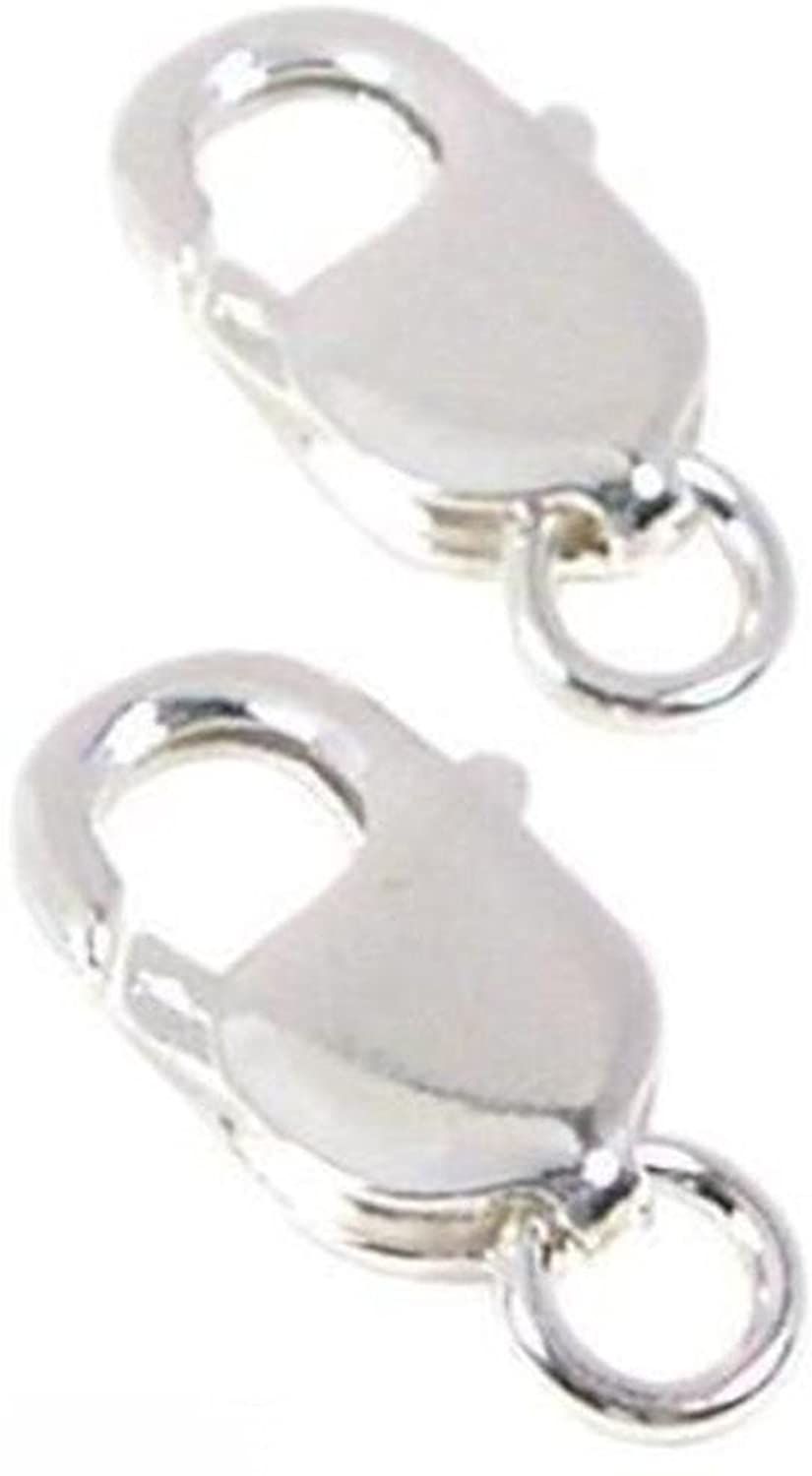 2 Sterling Silver Lobster Claw Clasps Large Bracelet