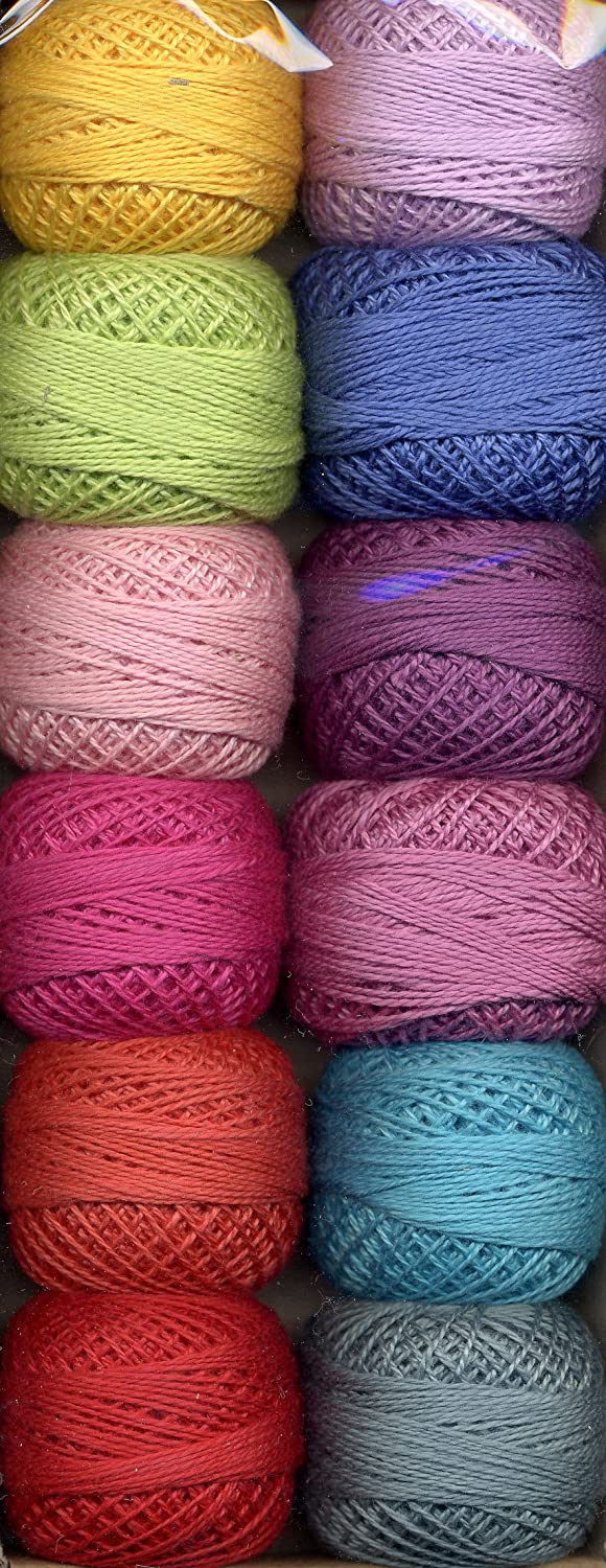 Valdani Size 12 Perle Cotton Embroidery Thread Gemstone Magic Collection (PC12-Gemstone)