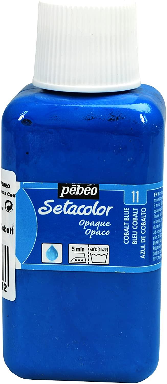 PEBEO Setacolor Opaque Fabric Paint 250-Milliliter Bottle, Cobalt Blue