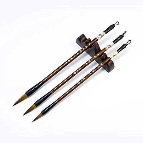 Chinese Calligraphy Brush, Writing Brush, Kanji, Sumi Drawing,Watercolor Brush,Wolf brush (Pack of 3 - Large, Medium, Small Size)
