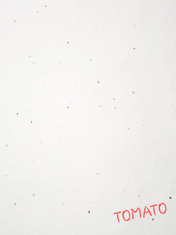 Devraaj Eco Friendly White Plantable Tomato Seed Paper A5 size card with Envelope set of (50)