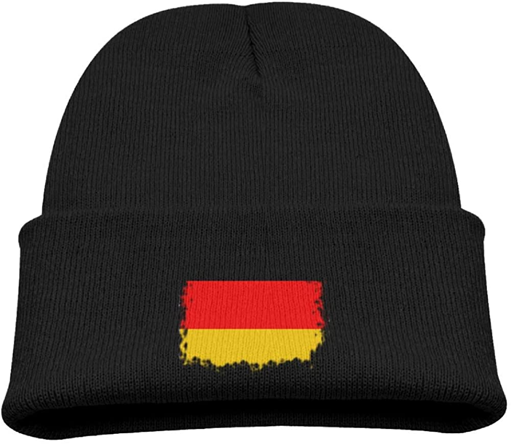 ZWZ Vintage Flag Of German Kid's Hats Winter Funny Soft Knit Beanie Cap, Unisex