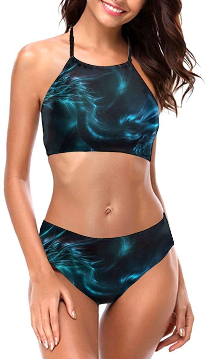 Women's Halter Push Up Padded Bikini Set, Fashion Two Piece Swimsuits