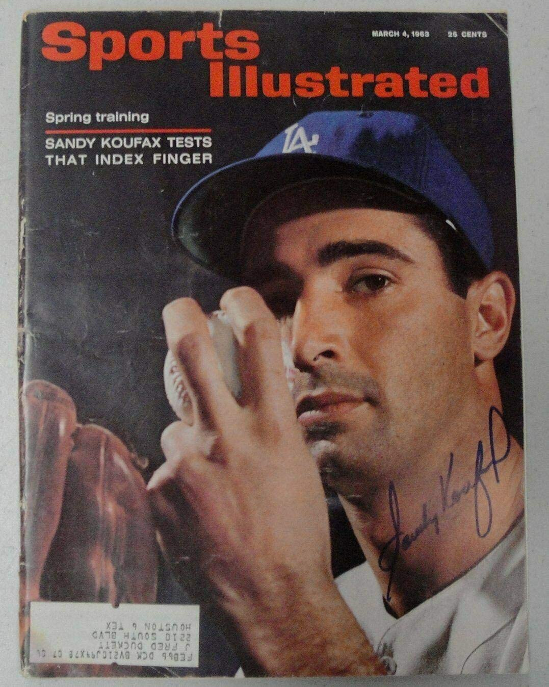 Sandy Koufax Signed Autographed Sport Illustrated Magazine Dodgers JSA V68055 - Autographed MLB Magazines