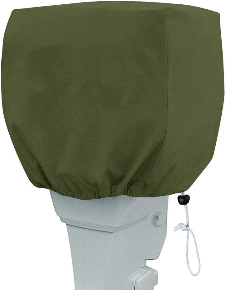 TUYU Outboard Motor Cover Waterproof Boat Motor Cover, Motor Hood Cover, Lightweight Outboard Motor for Boats with Drawn Cord Closure