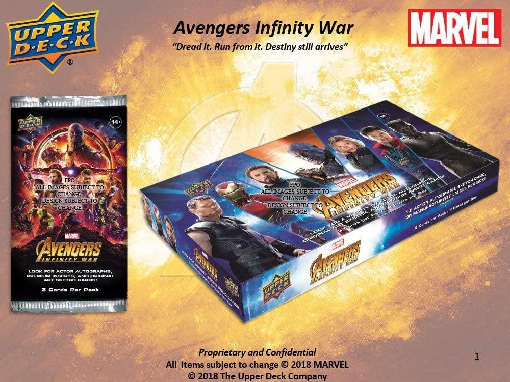2018 Upper Deck Marvel Avengers Infinity War Hobby 8-Box Case