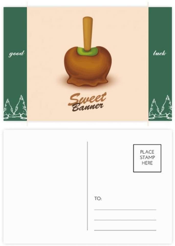Brown Green Chocolate Ice Cream Good Luck Postcard Set Card Mailing Side 20pcs