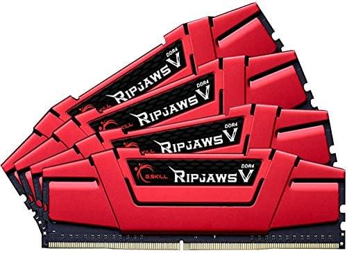 G.SKILL 32GB (4 x 8GB) Ripjaws V Series DDR4 PC4-26600 3333MHZ for Intel Z170 Platform 288-Pin Desktop Memory Model F4-3333C16Q-32GVR
