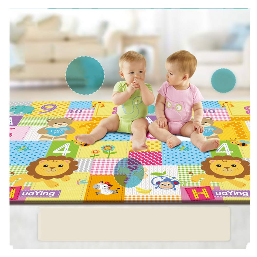 AZEWO US FAST SHIPMENT Play Mat, Folding Mat Baby Crawling Mat Kids Playmat Waterproof Non Toxic for Babies, Infants, Toddlers (Multicolour)