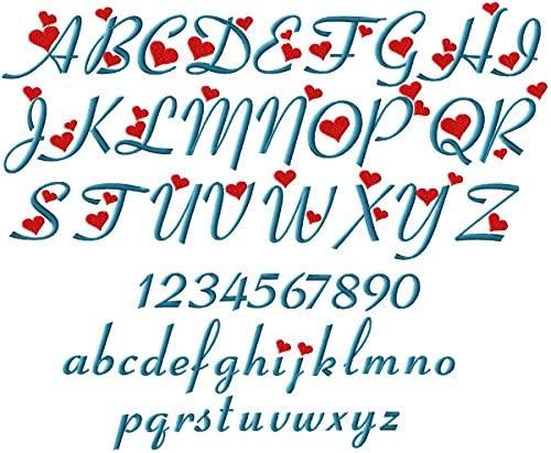 ABC Machine Embroidery Designs Set - Girls Alphabet Embroidery Designs 4x4 Hoop - CD