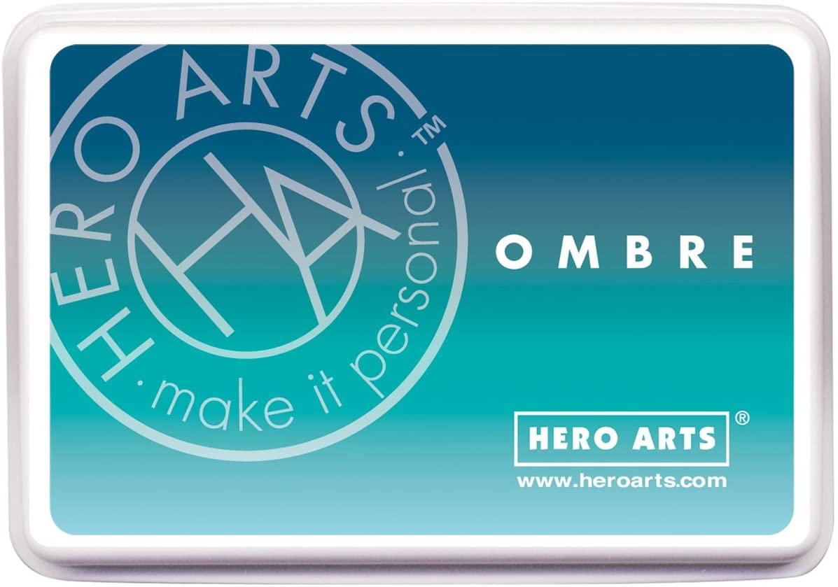 Hero Arts AF308 Ombre Ink Pad, Tide Pool to Navy
