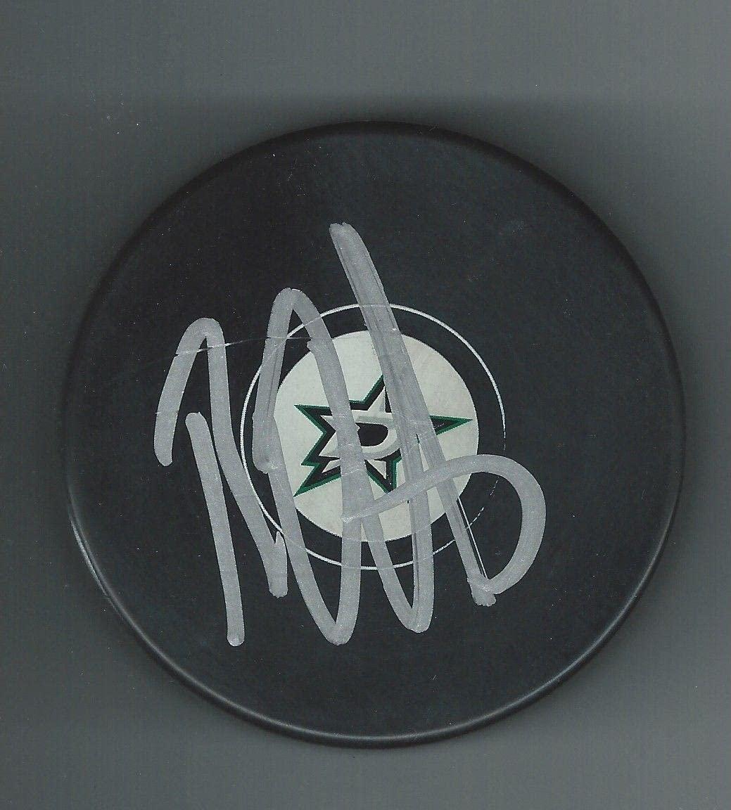 Brett RITCHIE Signed DALLAS STARS New Logo Puck Boston Bruins - Autographed NHL Pucks