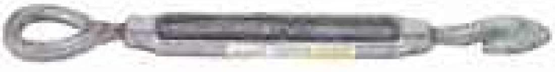 Baron 16-5-8X6 .62 x 6 in. Galvanized Hook & Eye Turnbuckle