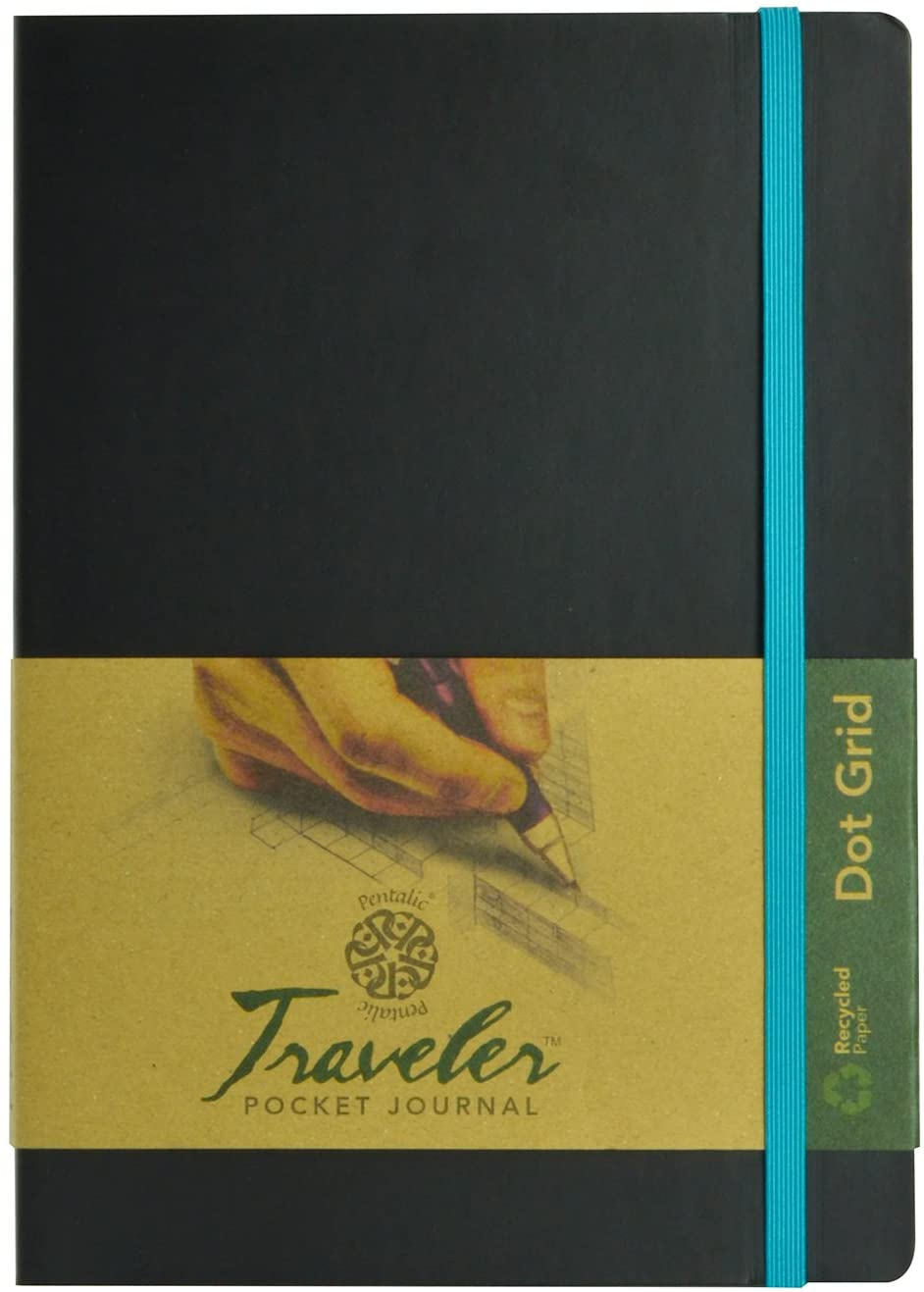 Pentalic Art Acid Free Dot Grid Travelers Sketch Book, 6