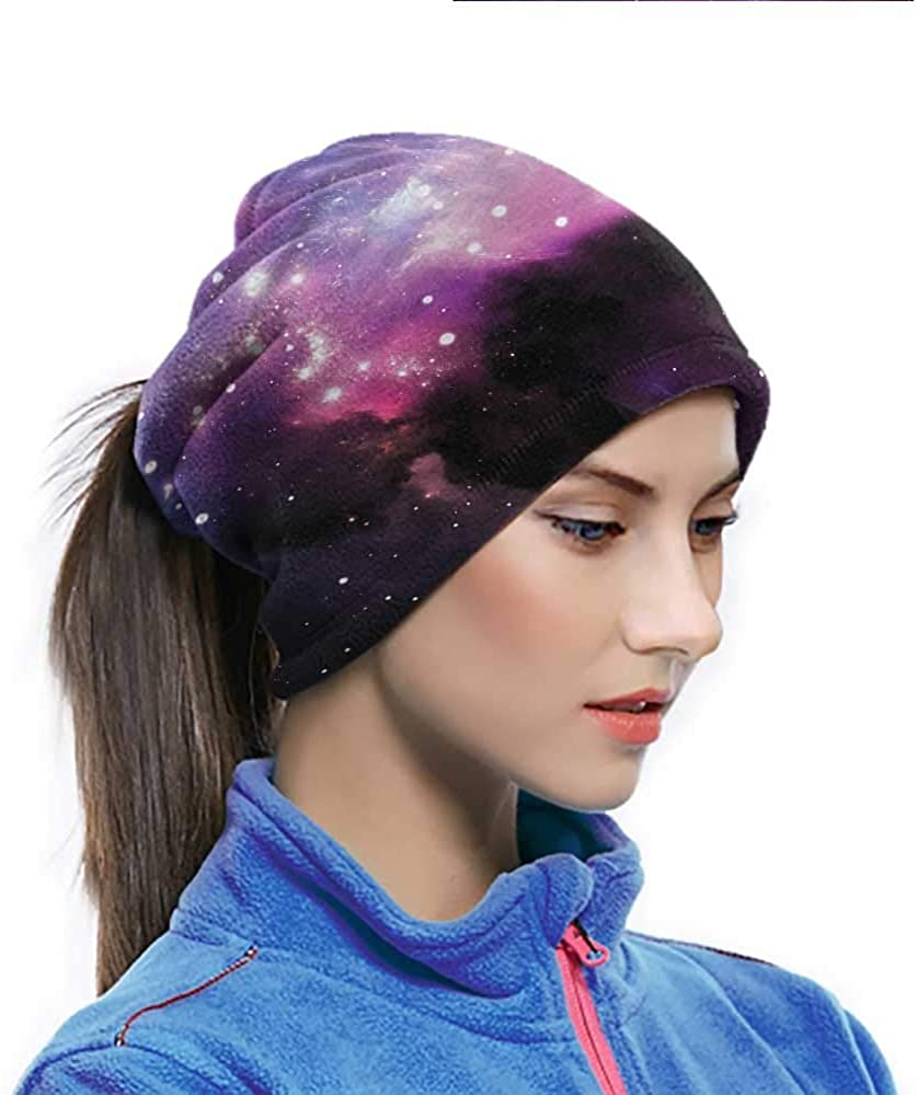 Magic Scarf Space, Nebula Cosmos Image Colorful Headwear Scarf For Work, Yard work, Working Out 10 x 11.6 Inch