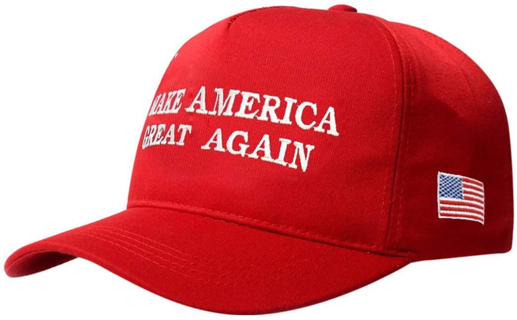 New Baseball Hat Fashion Make America Great Again Hat (Red)