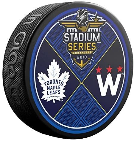 Inglasco NHL 510AN002918 Stadium Series SK 2018 Annapolis Dueling Logo Souvenir Puck