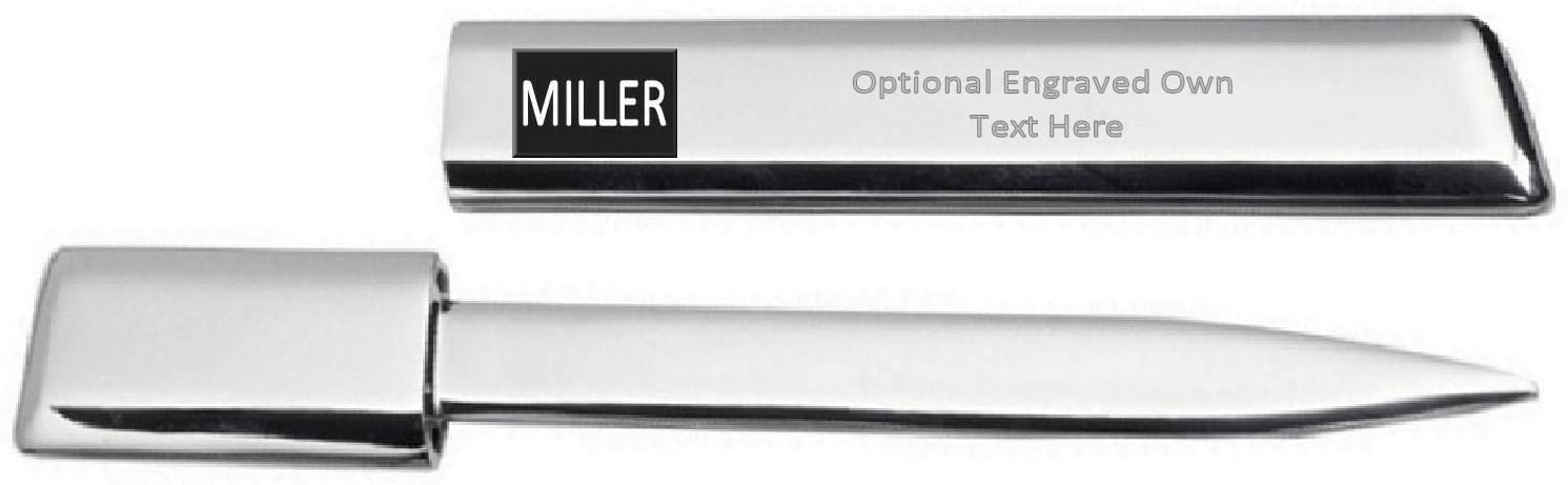 Engraved Letter Opener Optional Text Printed Name - Miller