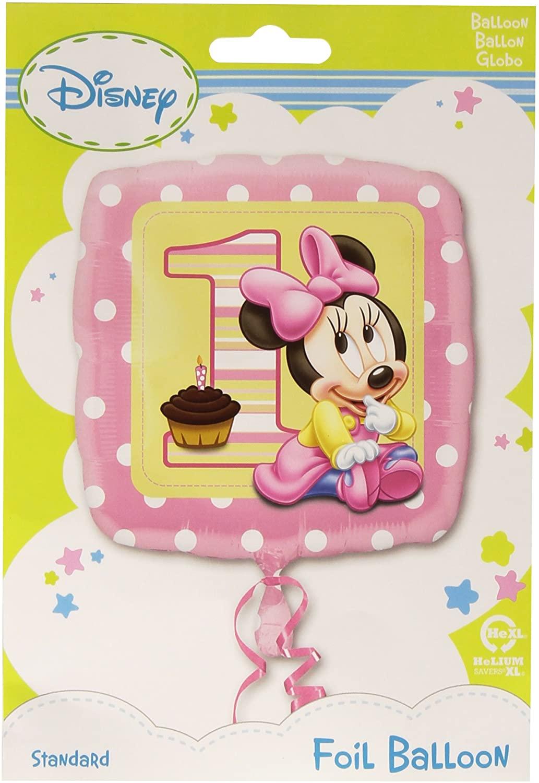 Anagram International Minnie 1st Birthday Girl Foil Balloon Pack, 18