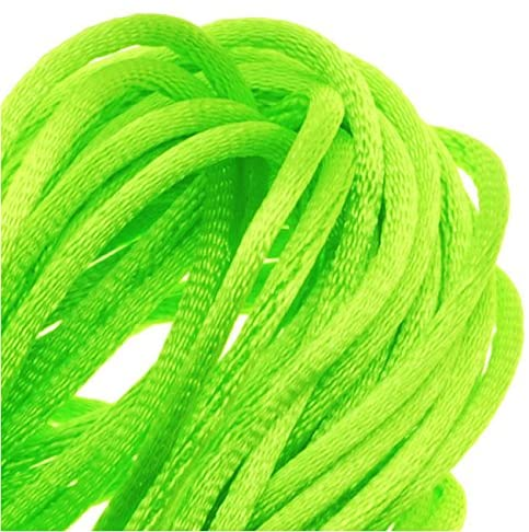 Beadaholique Rayon Satin Rattail 1mm Cord - Knot & Braid - Lime Green (6 Yards)