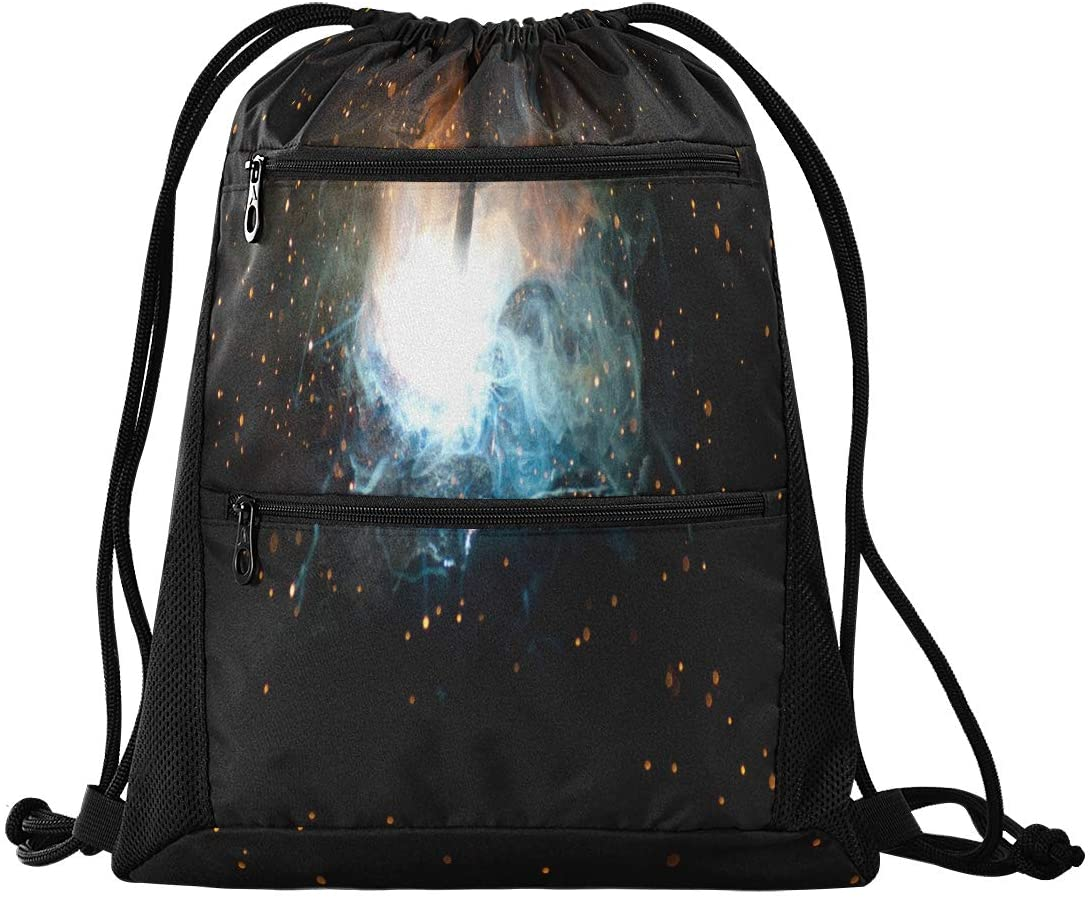 N /A Drawstring Backpack Bags for Women Men Unique The Welding Process Gym String Sport Yoga Bag