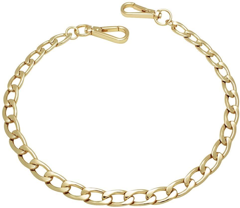 k-craft BG15 125cm Purse Metal Chain Strap Replacement Gold Crossbody Shoulder Strap Handbag
