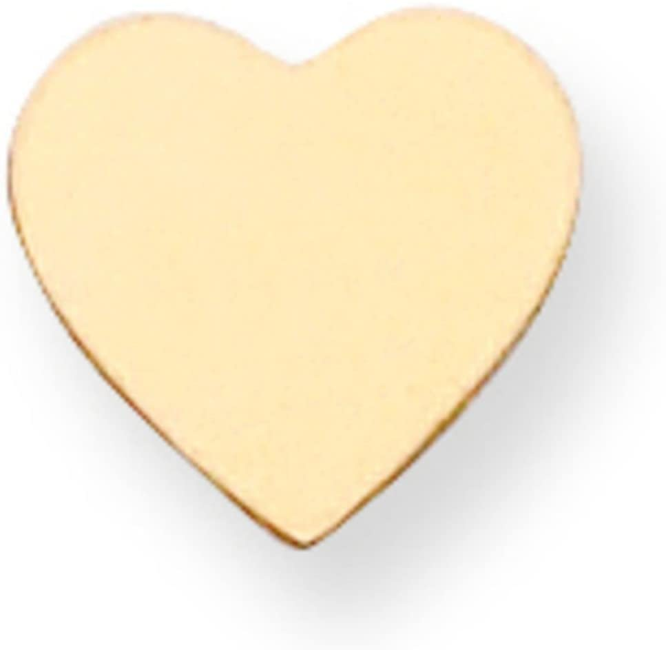 14K Gold Heart Stamping Disc 0.018
