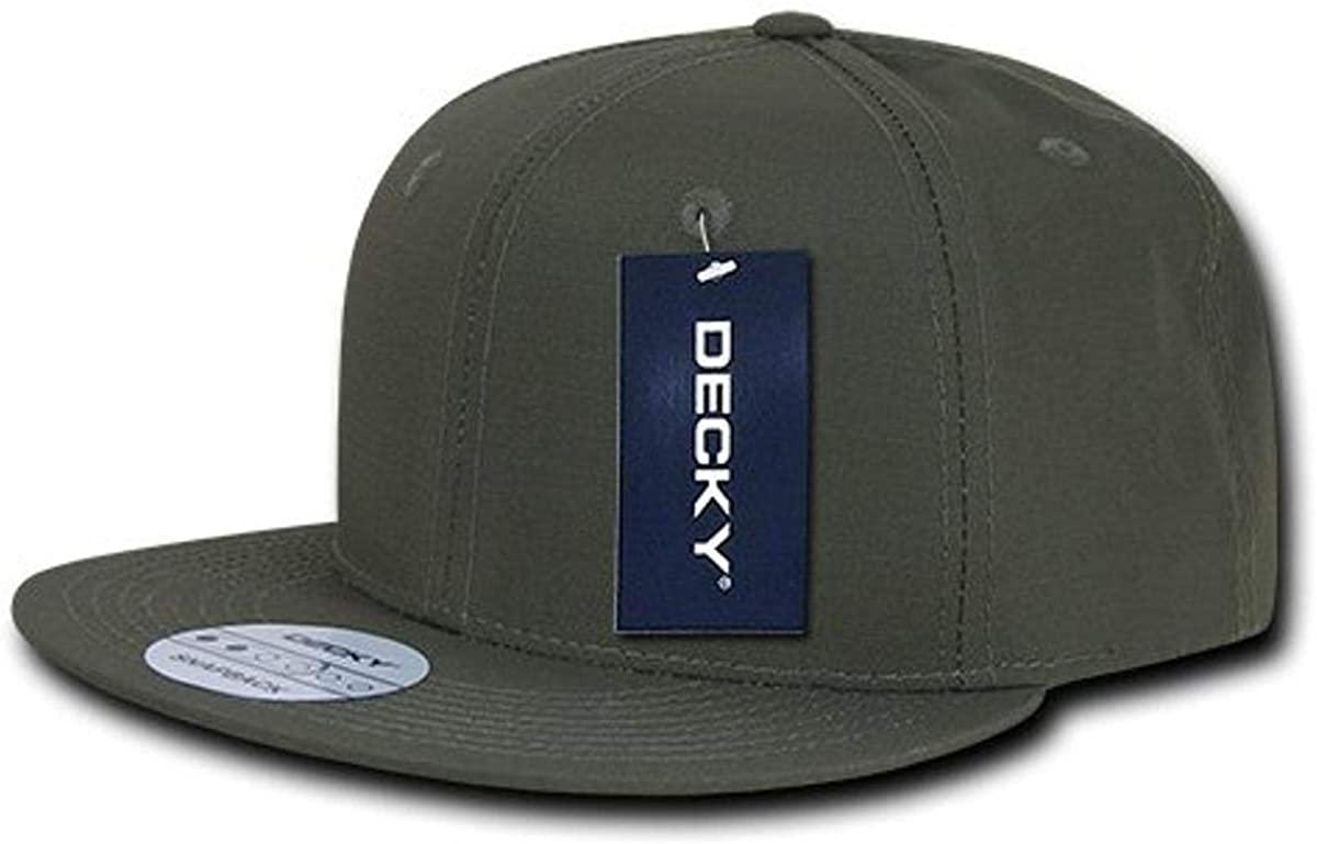 DECKY Rip Stop Snapback Cap, Olive Drab