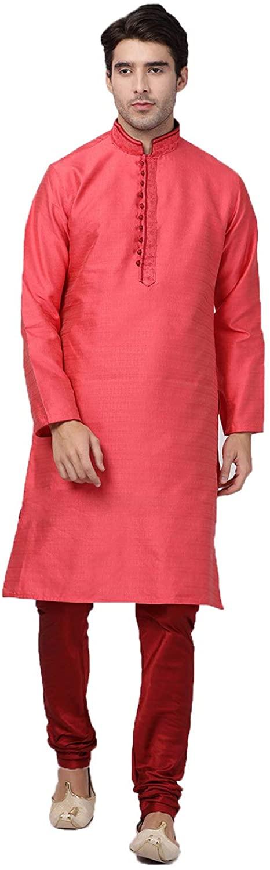 Indian Designer Partywear Traditional Ethnic Mens Wear Kurta Pajama.