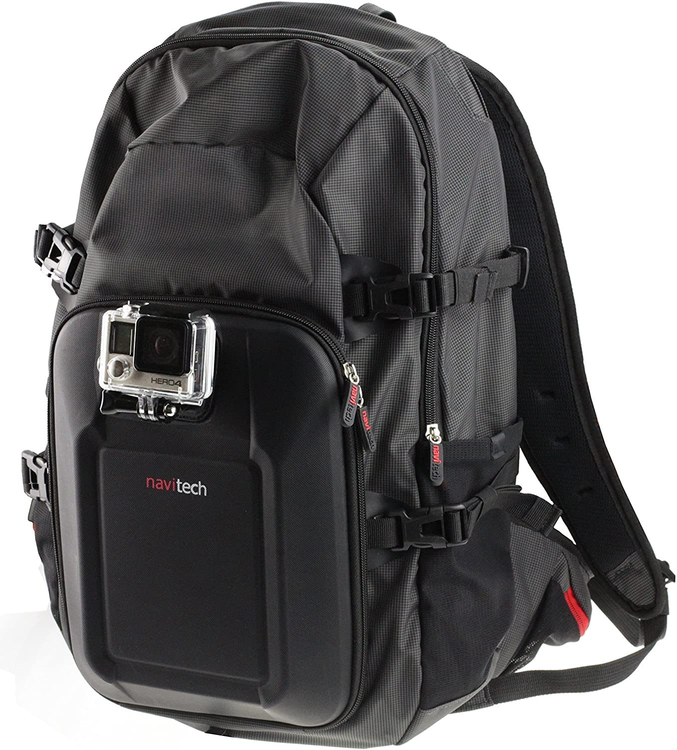 Navitech Action Camera Backpack With Integrated Chest Strap Compatible With The PNJ Cam AEE S50 PRO, AEE S70 PRO, Cam ST4K