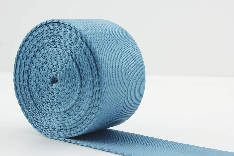 3DANCraftit 1 1/4 inch (32mm) Heavy Weight Nylon Webbing Strap 5 Yards Light Blue ZC32