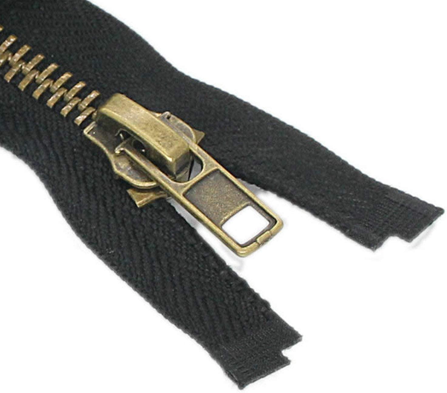 #8 40 Inch Antique Brass Zippers for Jackets 101.6cm Sewing Coats Crafts Separating Jacket Zipper Metal Zipper Heavy Duty (40