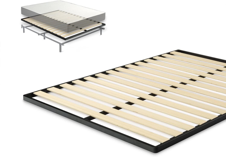 Zinus Deepak Easy Assembly Wood Slat 1.6 Inch Bunkie Board / Bed Slat Replacement, Queen