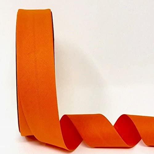 Byetsa Orange 30mm Stretch Bias Tape on a 25m Roll (3% Elastine/97% Cotton)