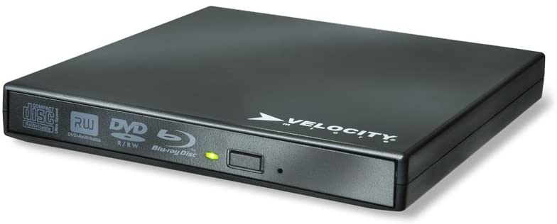 Velocity Micro Blu-Ray Disc External Optical Drive, Black VMbluDrive