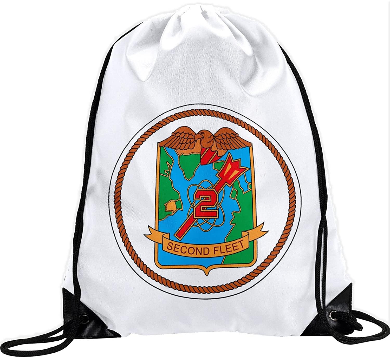 ExpressItBest Large Drawstring Bag - US Naval Forces Southern Command (USNAVSO)