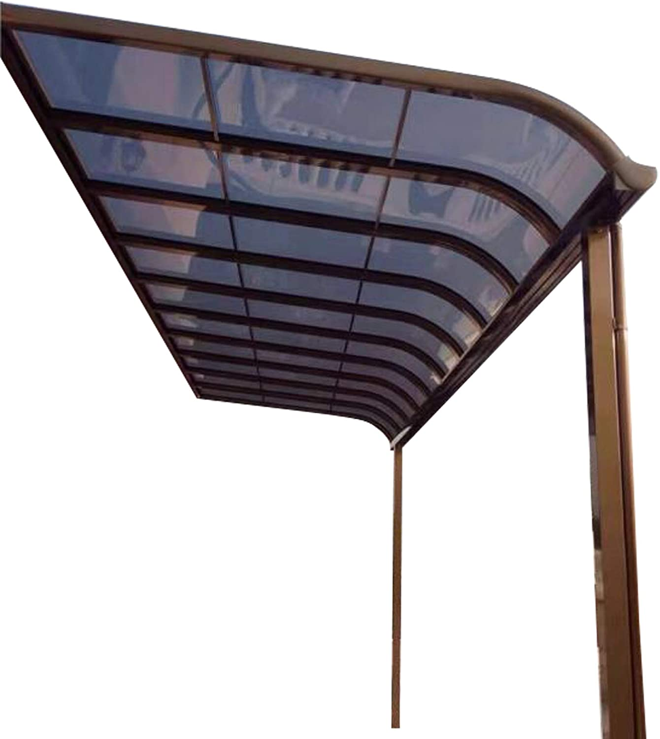 Litesort Aluminum Patio Awnings Deck Roof Backyard Cover Front Door Awnings and Also Can Be Gazebo Awning 10×15 Feet Made by Aluminum Frame and Polycarbonate Roofing