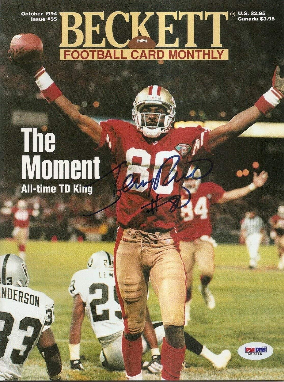 Jerry Rice Autographed Signed HOF 49Ers 1994 Beckett Magazine PSA/DNA COA