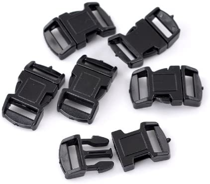48 Pack Small Plastic Bracelet Buckles for Survival Style Paracord or Rope DIY (29mm (1 1/8) x 16mm (5/8))