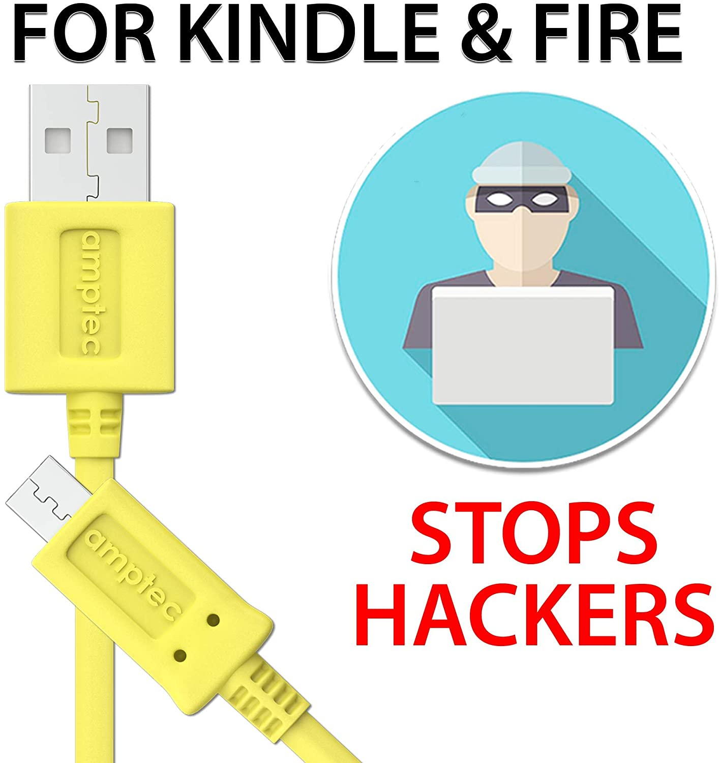 Kindle Fire Charger Cord Replacement Fast Charging Micro USB Cable - Supports All Kindle E-Readers, Kindle, Paperwhite, Oasis, Fire 7, Fire HD 8 and Any Micro USB Devices (1 Pack)