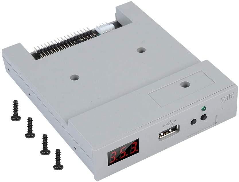 AYNEFY FAT32 Drive Emulator, SFR1M44-U100 3.5inch 1.44MB USB SSD Floppy Drive Emulator Set Including 1 USB Emulator and 3 Screws Handy Use Plug to Operate