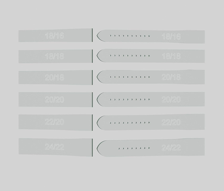 Watch Strap Template Set - 12 Piece Set