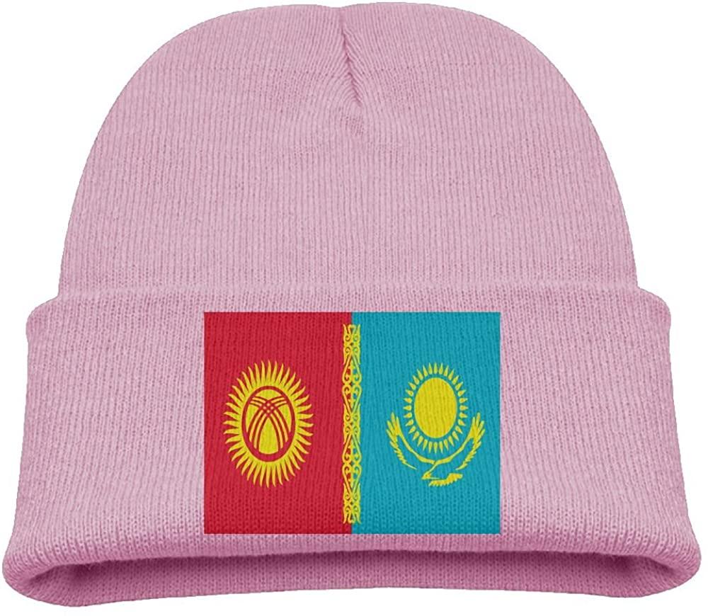 ZWZ Flag Of Kazakhstan Kid's Hats Winter Funny Soft Knit Beanie Cap Children Unisex