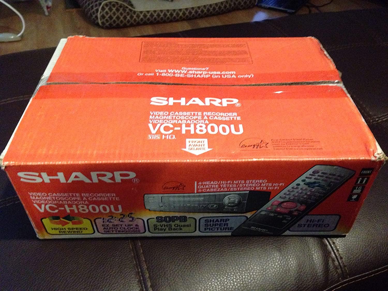 SHARP VC-H800U VHS VCR Video Cassette Player Recorder