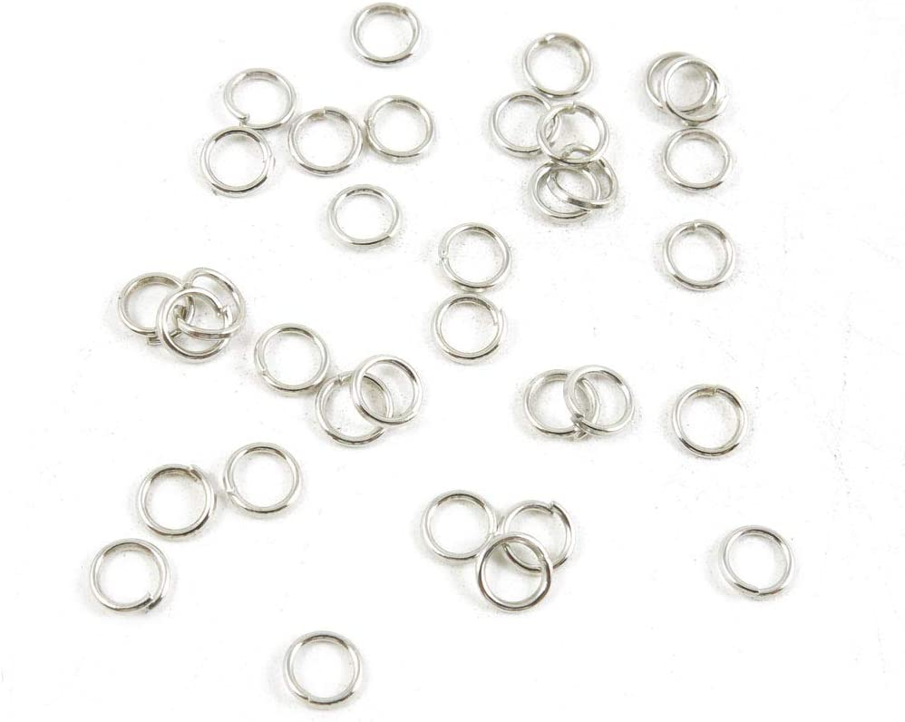 5360 pcs Antique Silver Plated Jewelry Charms Findings Craft Making Vintage Beading L7TK5F Jump Ring 5mm