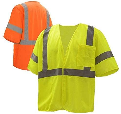 GSS Safety Standard Class 3 Mesh Hoop & Loop Safety Vest