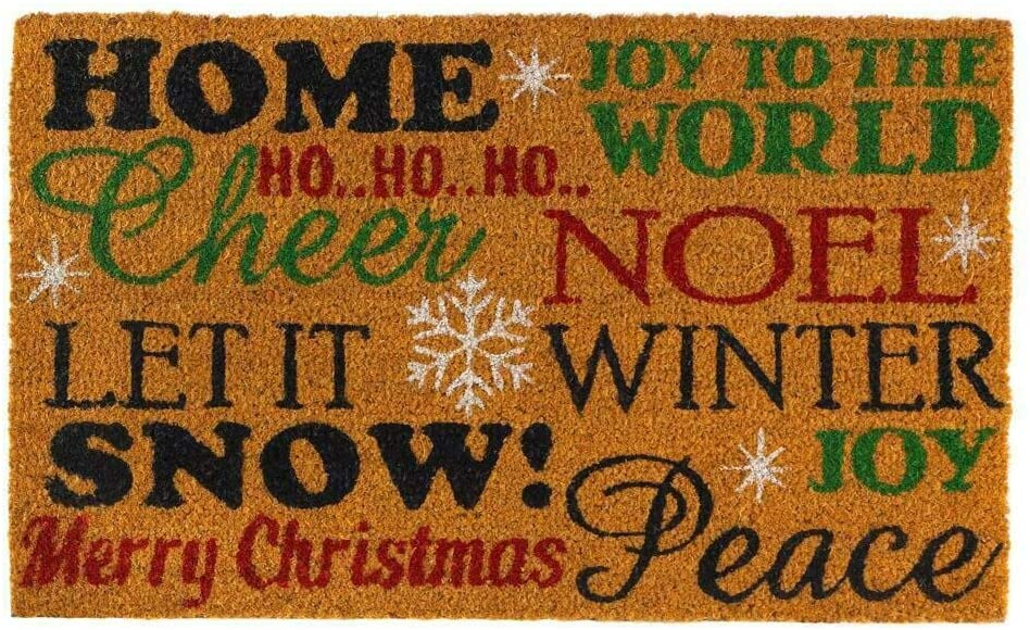 Christmas Collection 10018563 Holiday Cheer Doormat, Multicolor