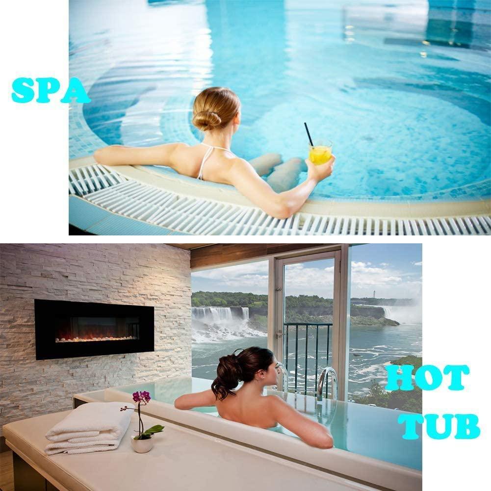 Grehod Swimming Pool Test Strip 6 in 1 Residual Chlorine PH Alkali Hardness Total Alkalinity SPA Test Strip (50 PCS/Bottle) Graceful